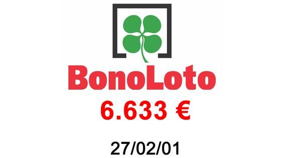 Bonoloto 6.633€